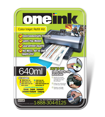 KIT DE RECARGA ONE INK 540ML