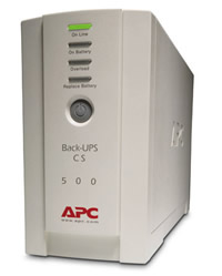 NO BREAK APC BACK-UPS CS 500, 6 CONT(3 C/RESPALDO)