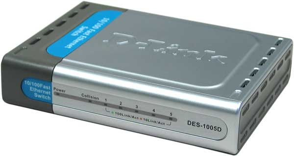 SWITCH D-LINK 5 PTOS 10/100 BASE-TX