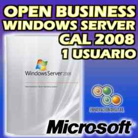 OPEN BUSINESS WINDOWS SERVER CAL 2008 1 USUARIO