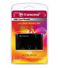 LECTOR DE MEMORIAS ALL IN ONE USB2.0 NEG TRANSCEND